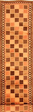 "Gabbeh Multicolor Runner Hand Knotted 2'7"" X 13'4""  Area Rug 100-20562"