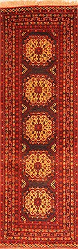 Afghan Bhadohi Red Runner 10 to 12 ft Wool Carpet 20587