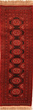 "Kunduz Red Runner Hand Knotted 3'1"" X 9'7""  Area Rug 100-20606"