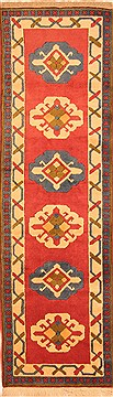 Turkish Bokhara Red Runner 10 to 12 ft Wool Carpet 20628