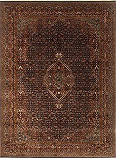 Indian Bidjar Black Rectangle 5x7 ft Wool Carpet 20649