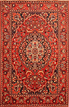 "Bakhtiar Red Hand Knotted 6'11"" X 10'5""  Area Rug 100-20737"