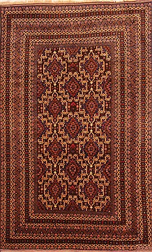 Afghan Baluch Brown Rectangle 7x10 ft Wool Carpet 20739