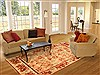 Modern Brown Hand Knotted 80 X 101  Area Rug 100-20742 Thumb 4