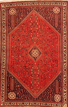 Persian Abadeh Red Rectangle 7x10 ft Wool Carpet 20750