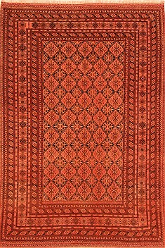 "Kurdi-Bof Red Hand Knotted 6'7"" X 9'10""  Area Rug 100-20773"