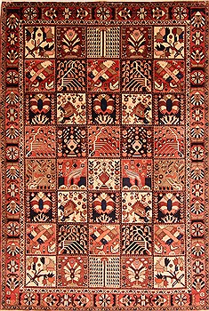 Persian Bakhtiar Multicolor Rectangle 7x10 ft Wool Carpet 20777