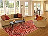 Bakhtiar Red Hand Knotted 70 X 102  Area Rug 100-20806 Thumb 4