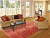 Bakhtiar Red Hand Knotted 68 X 101  Area Rug 100-20812 Thumb 4