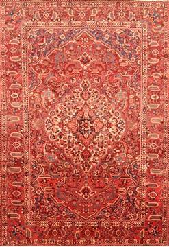 Persian Bakhtiar Red Rectangle 7x10 ft Wool Carpet 20812