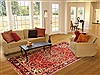 Bakhtiar Red Hand Knotted 71 X 104  Area Rug 100-20821 Thumb 4