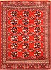 Turkman Red Hand Knotted 70 X 105  Area Rug 100-20823 Thumb 0