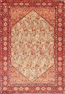 Persian Malayer Brown Rectangle 7x10 ft Wool Carpet 20864
