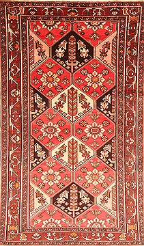 "Bakhtiar Red Hand Knotted 5'9"" X 9'10""  Area Rug 100-20875"
