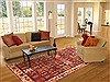 Bakhtiar Red Hand Knotted 73 X 911  Area Rug 100-20880 Thumb 4