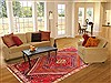 Qashqai Red Hand Knotted 610 X 99  Area Rug 100-20895 Thumb 4