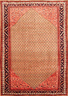 "Koliai Red Hand Knotted 7'0"" X 9'11""  Area Rug 100-20900"