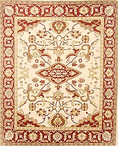 "Sumak Beige Hand Knotted 7'11"" X 9'10""  Area Rug 250-21011"