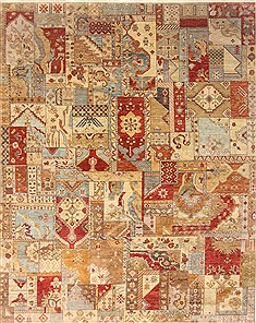 "Patchwork Multicolor Hand Knotted 8'0"" X 10'0""  Area Rug 250-21066"