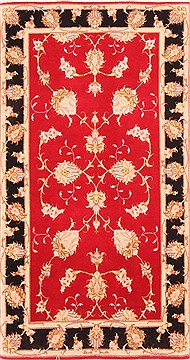 Persian Tabriz Red Rectangle 2x4 ft Wool Carpet 21076