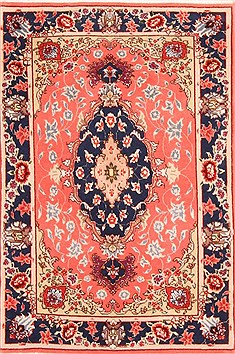 Persian Tabriz Red Rectangle 2x3 ft Wool Carpet 21080