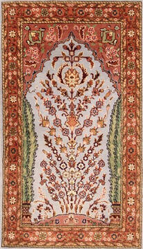 Persian Tabriz Red Rectangle 2x4 ft Wool Carpet 21083