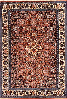 Romania Tabriz Red Rectangle 3x4 ft Wool Carpet 21148