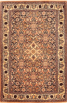 Romania Tabriz Brown Rectangle 3x4 ft Wool Carpet 21153