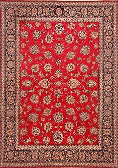 "Khorasan Red Hand Knotted 8'1"" X 11'7""  Area Rug 100-21181"