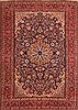 Isfahan Blue Hand Knotted 86 X 1110  Area Rug 100-21187 Thumb 0