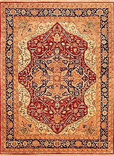 "Heriz Red Hand Knotted 8'10"" X 11'8""  Area Rug 100-21250"