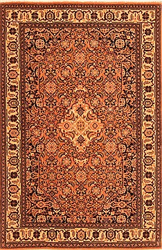 Romania Tabriz Red Rectangle 3x4 ft Wool Carpet 21284