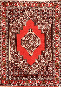 "Sanandaj Red Hand Knotted 2'4"" X 3'3""  Area Rug 100-21298"
