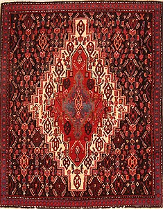 Afghan Baluch Black Square 4 ft and Smaller Wool Carpet 21299