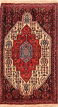 Persian Sanandaj Red Rectangle 2x4 ft Wool Carpet 21303