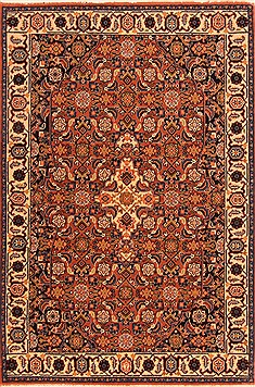 Romania Tabriz Yellow Rectangle 3x4 ft Wool Carpet 21308