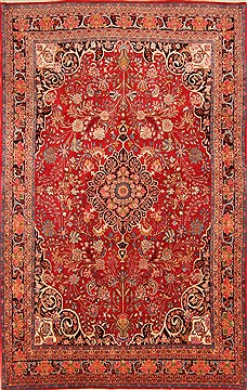 "Bidjar Red Hand Knotted 7'5"" X 11'6""  Area Rug 100-21338"