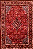 Maymeh Red Hand Knotted 86 X 125  Area Rug 100-21347 Thumb 0