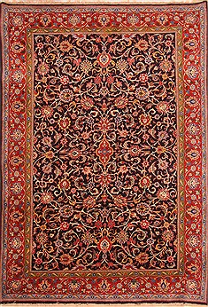 "Sarouk Red Hand Knotted 8'0"" X 11'5""  Area Rug 100-21363"