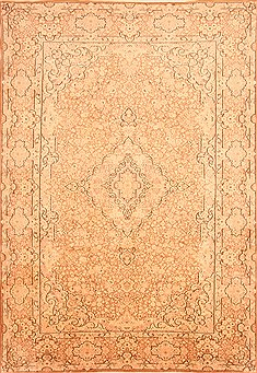 Persian Kerman White Rectangle 8x11 ft Wool Carpet 21364
