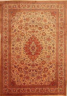 "Sarouk Brown Hand Knotted 8'0"" X 11'5""  Area Rug 100-21381"