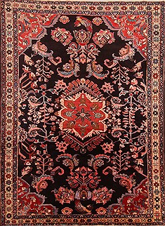 Persian Lilihan Red Rectangle 8x10 ft Wool Carpet 21395