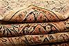 Sarouk Beige Hand Knotted 83 X 103  Area Rug 100-21420 Thumb 18