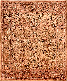 "Sarouk Beige Hand Knotted 8'3"" X 10'3""  Area Rug 100-21420"