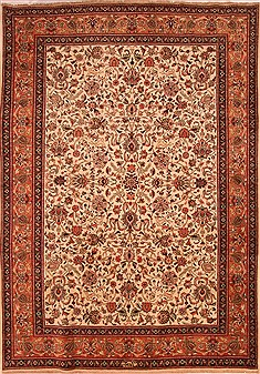 "Tabriz Yellow Hand Knotted 7'9"" X 10'11""  Area Rug 100-21423"