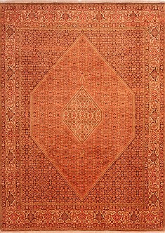 "Bidjar Yellow Hand Knotted 8'2"" X 11'4""  Area Rug 100-21443"