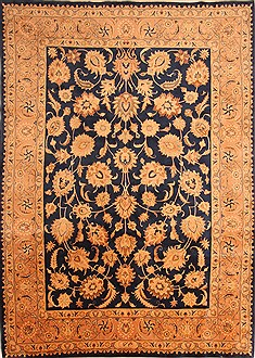 "Kashmar Yellow Hand Knotted 8'3"" X 11'7""  Area Rug 100-21465"