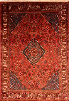 Persian Maymeh Red Rectangle 8x11 ft Wool Carpet 21473