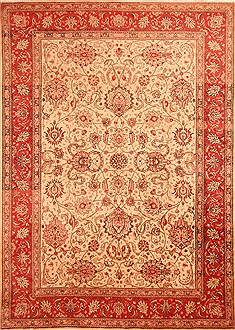 "Kashan Yellow Hand Knotted 7'10"" X 11'2""  Area Rug 100-21477"
