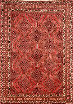 "Yalameh Red Hand Knotted 8'2"" X 11'6""  Area Rug 100-21479"